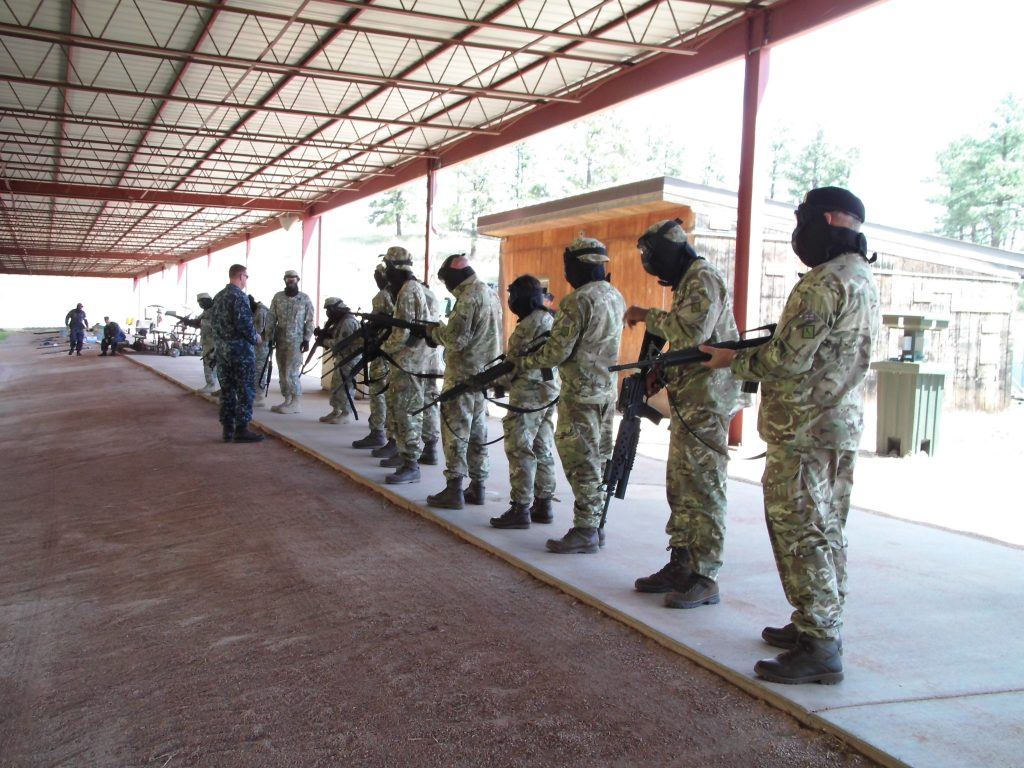 Soldiers training in USA